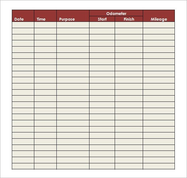 Free Mileage Log Template Mileage Log Template 14 Download Free Documents In Pdf Doc