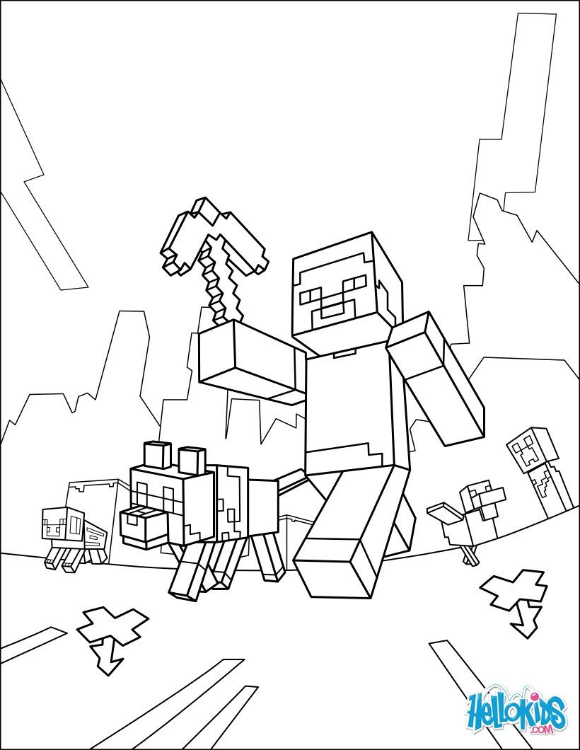 Free Minecraft Coloring Pages Minecraft Coloring Page Taking A Walk Coloring Pages