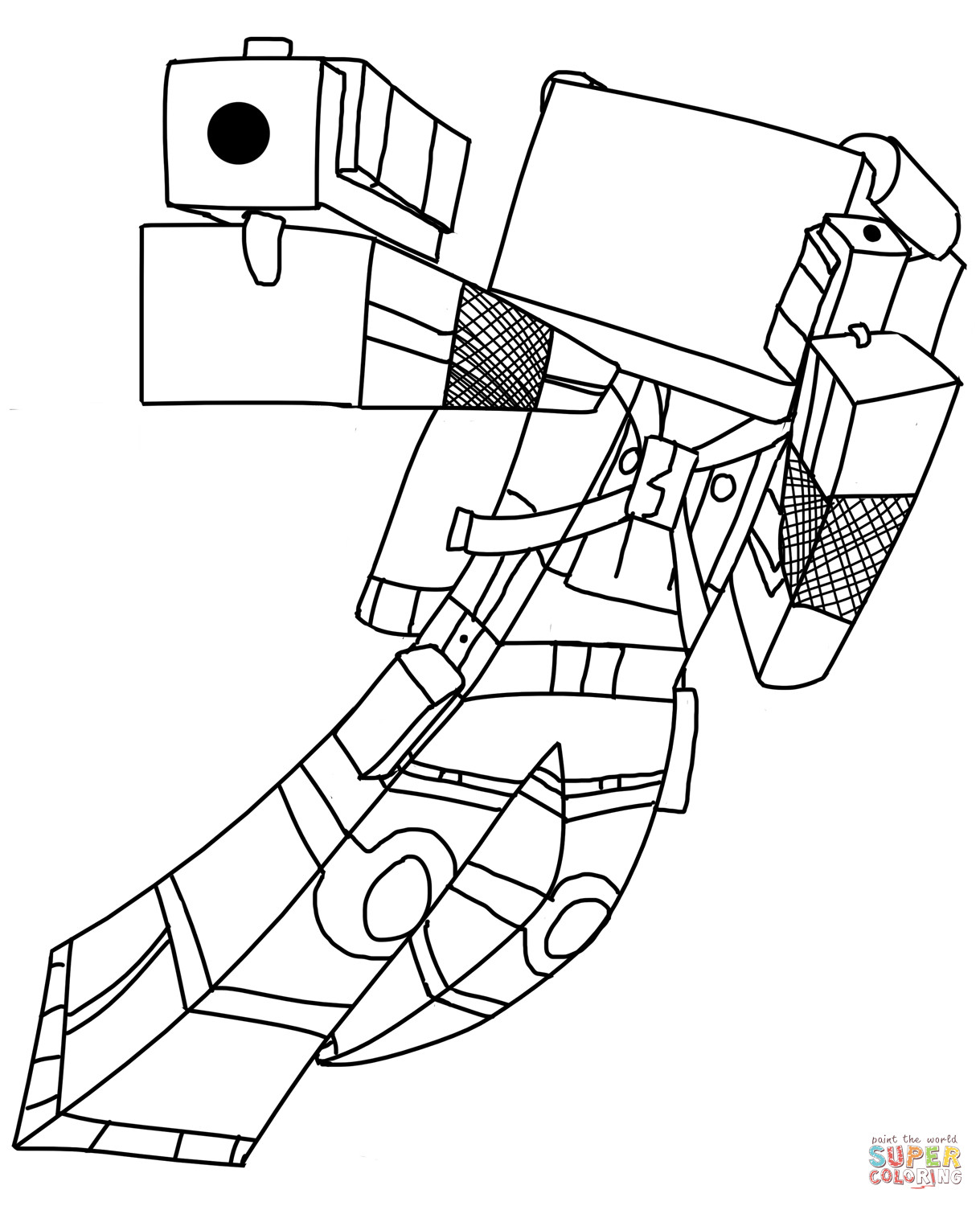 Free Minecraft Coloring Pages Minecraft Coloring Pages Cat Coloring Home