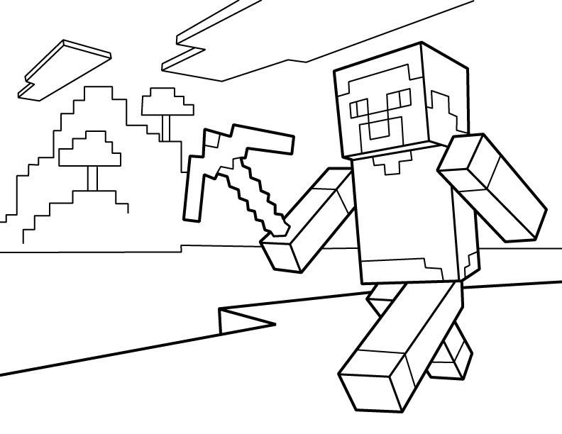 Free Minecraft Coloring Pages Minecraft Coloring Pages Free Printable Minecraft Pdf