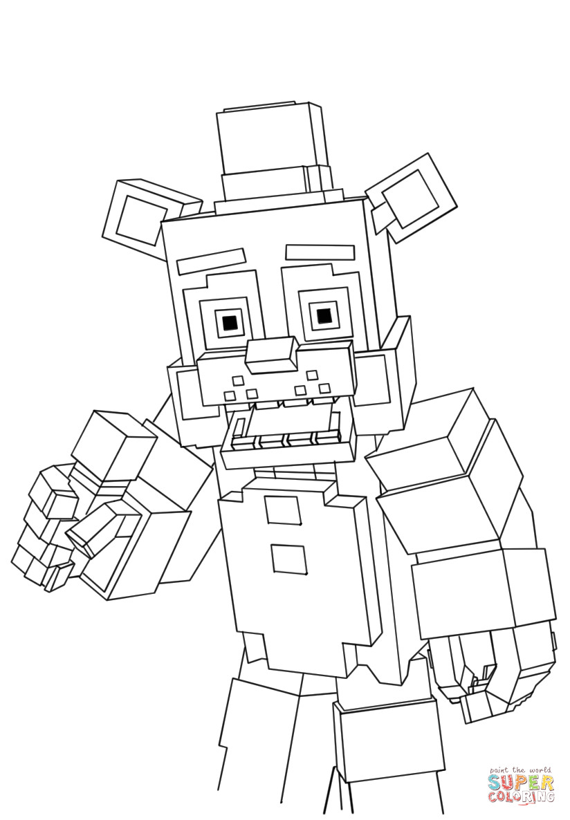 Free Minecraft Coloring Pages Minecraft Freddy Coloring Page