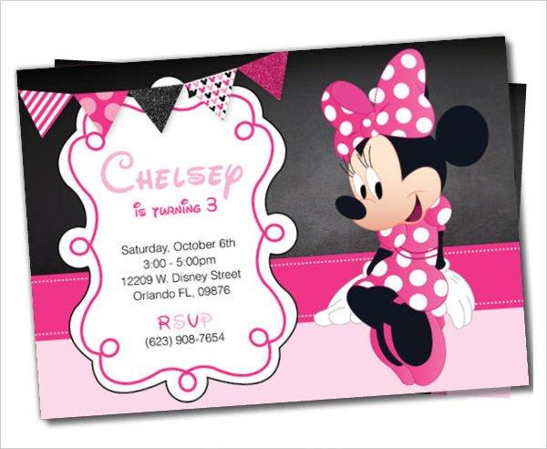 Free Minnie Mouse Invitations 23 Awesome Minnie Mouse Invitation Templates Psd Ai