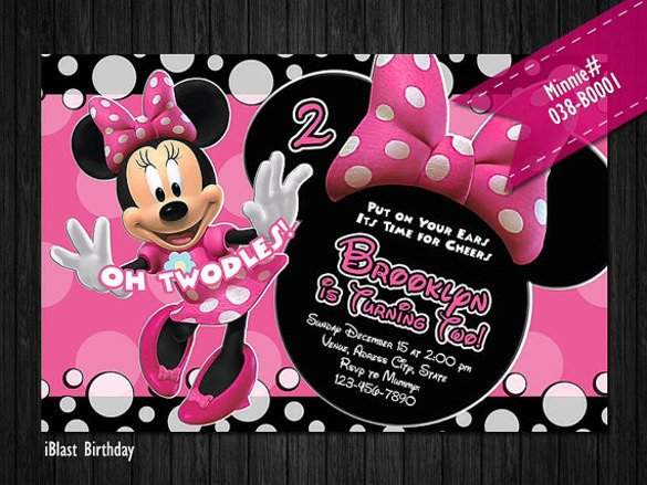 Free Minnie Mouse Invitations 26 Minnie Mouse Invitation Templates Psd Ai Word