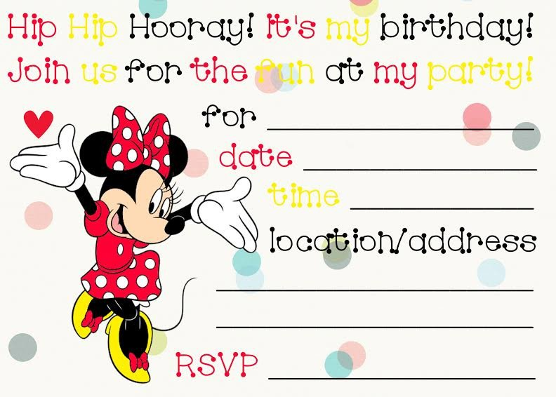 Free Minnie Mouse Invitations Free Minnie Mouse Invitations Print now Frugal Fanatic