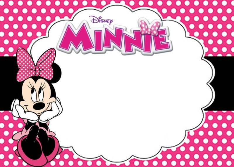 Free Minnie Mouse Invitations Free Printable Minnie Mouse Birthday Party Invitation Card