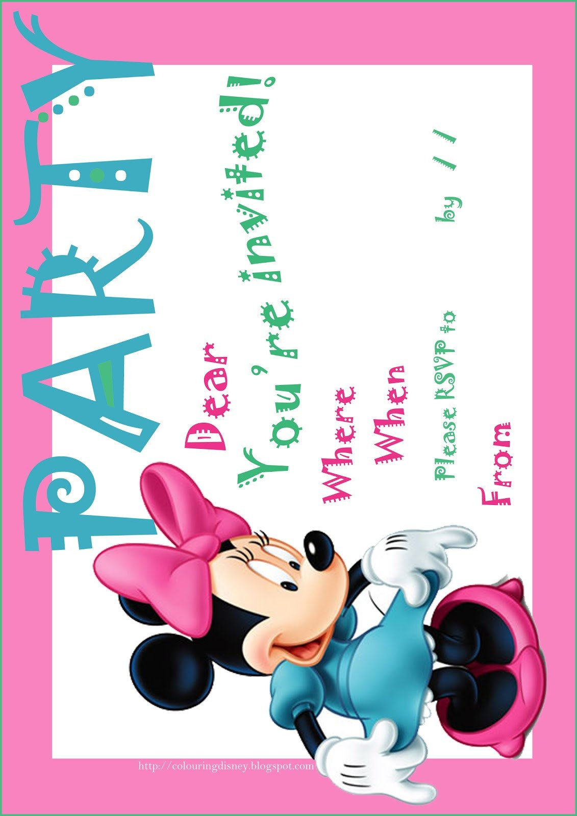 Free Minnie Mouse Invitations Minnie Mouse Free Printables