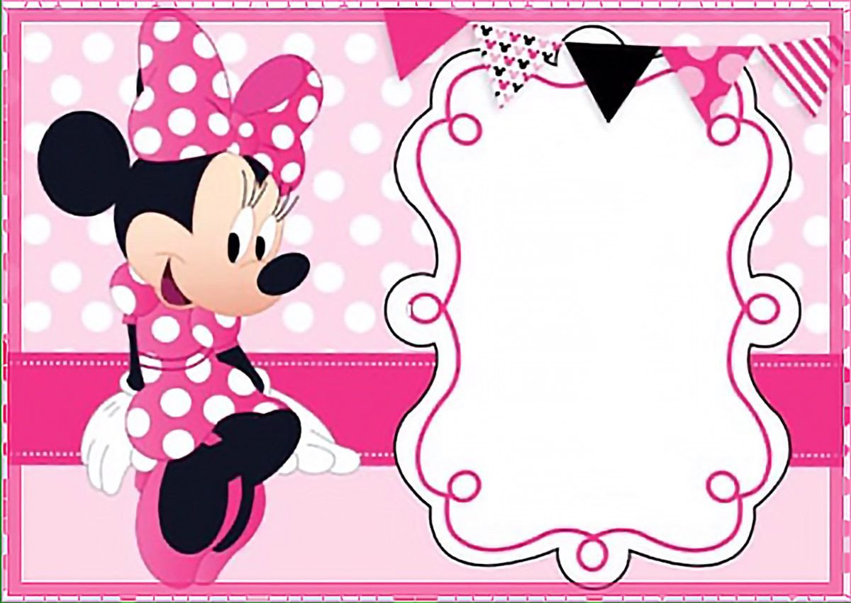 Free Minnie Mouse Invitations Printable Minnie Mouse Birthday Party Invitation Template