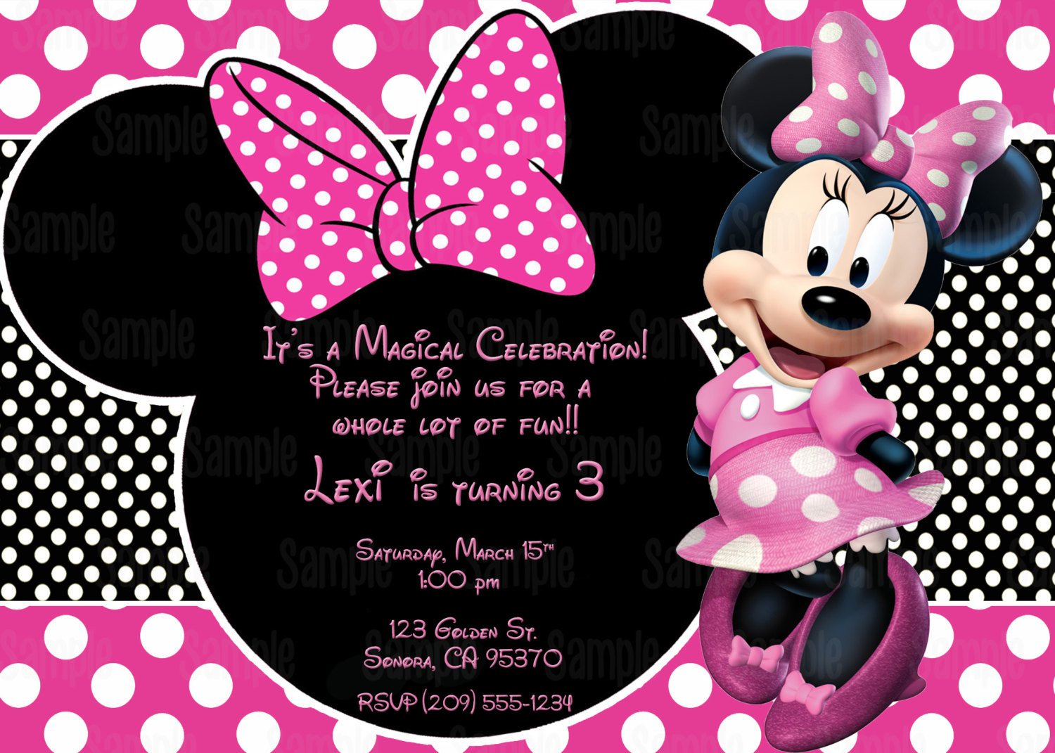 Free Minnie Mouse Invitations Printable Minnie Mouse Invitation Plus Free Blank Matching