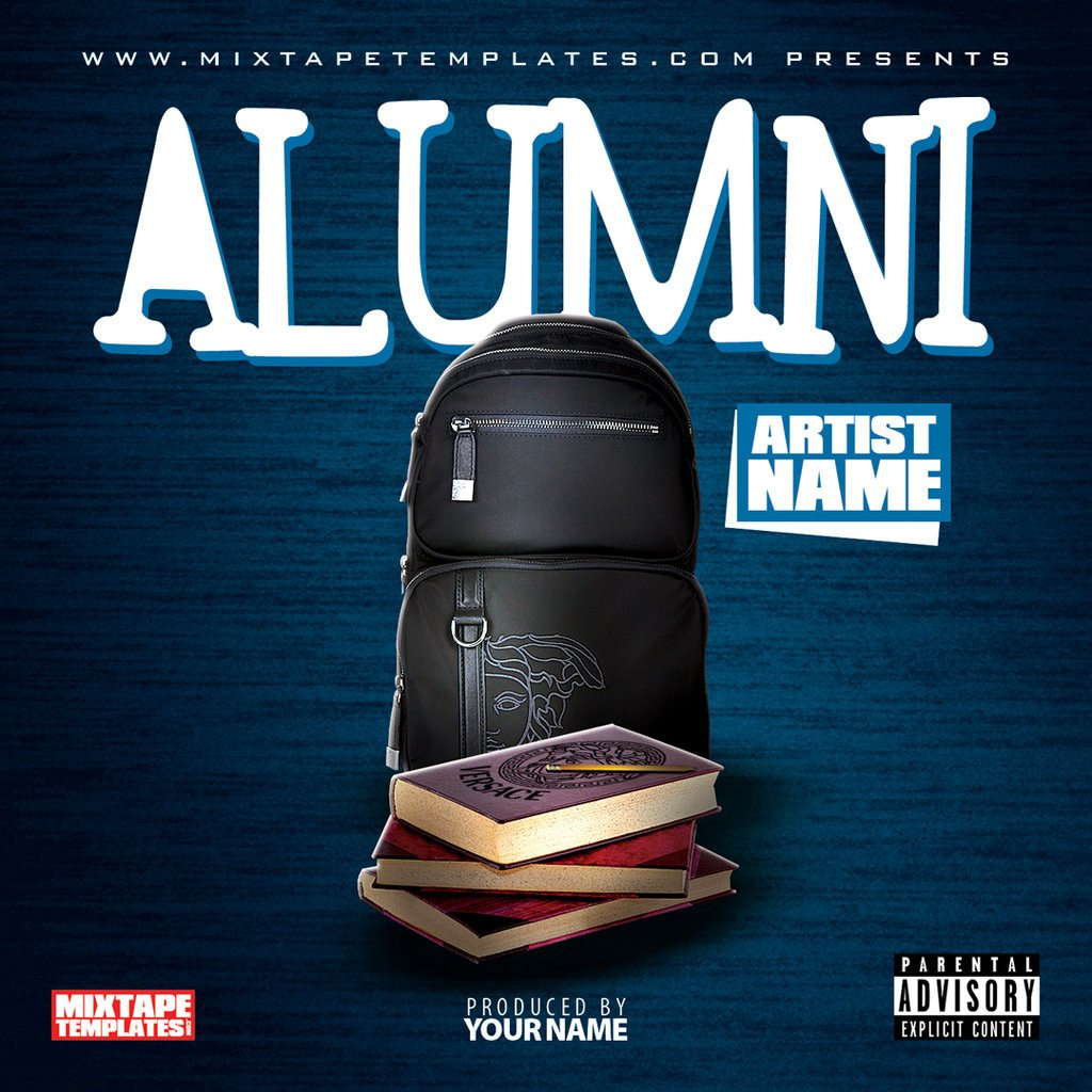 Free Mixtape Cover Templates Alumni Mixtape Cover Template by Filthythedesigner On
