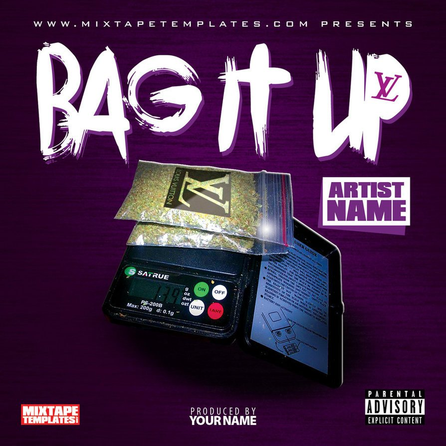 Free Mixtape Cover Templates Bag It Up Mixtape Cover Template by Filthythedesigner