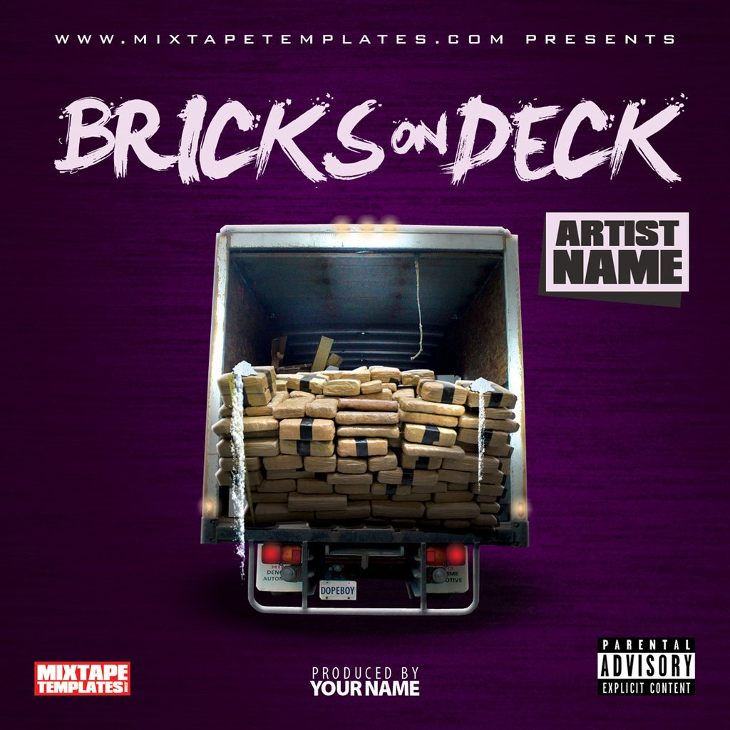 Free Mixtape Cover Templates Bricks Deck Mixtape Cover Template by