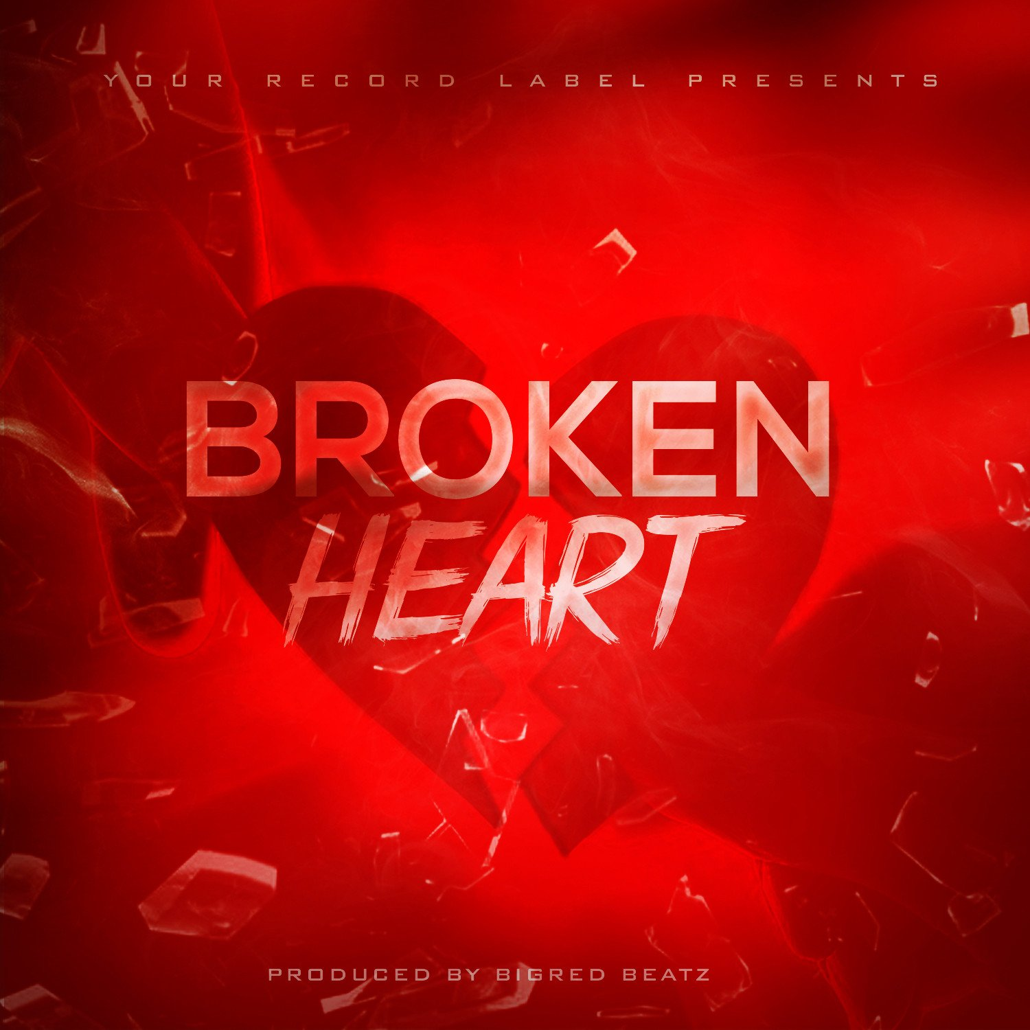 Free Mixtape Cover Templates Broken Hearts Free Album Cover Template