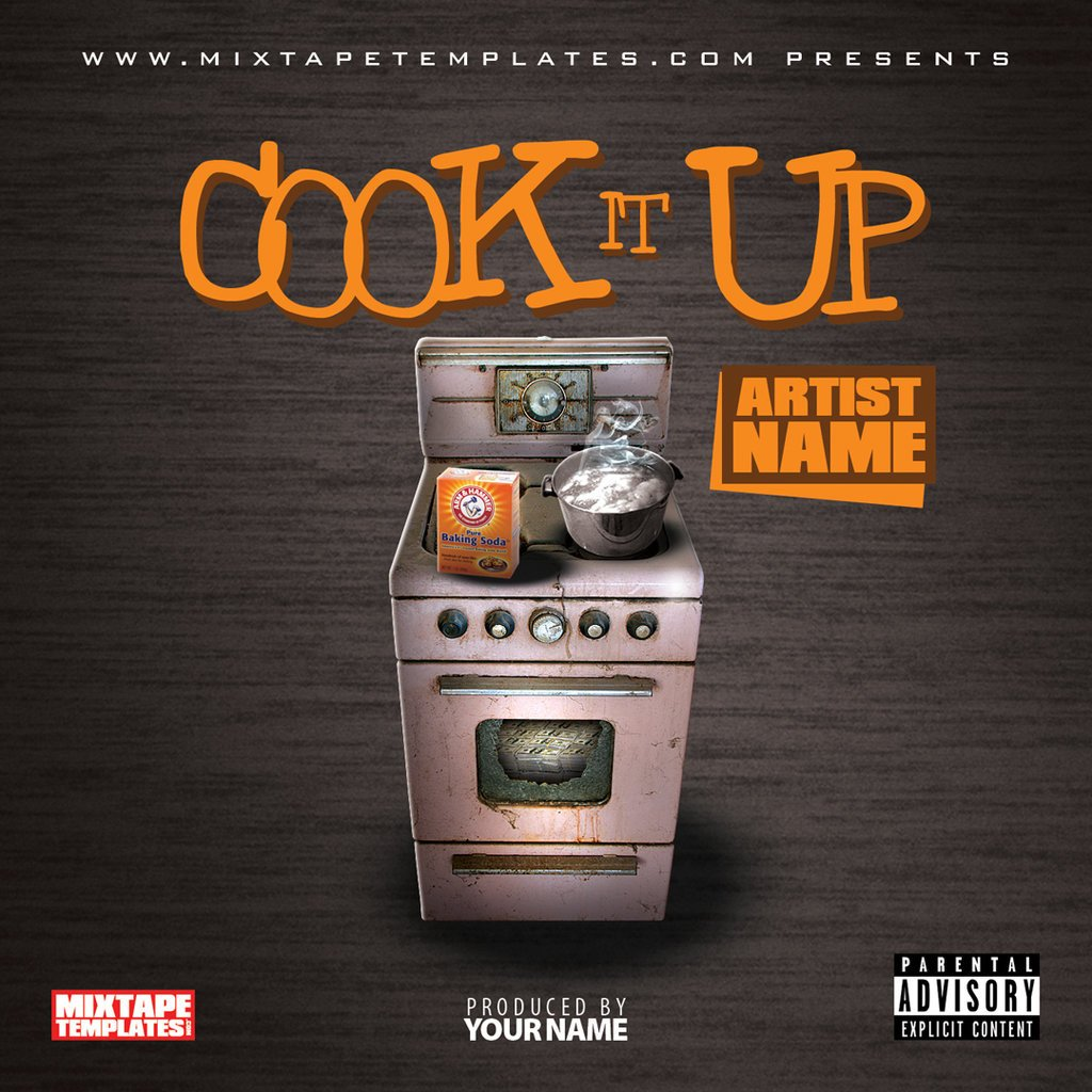 Free Mixtape Cover Templates Cook It Up Mixtape Cover Template by Filthythedesigner