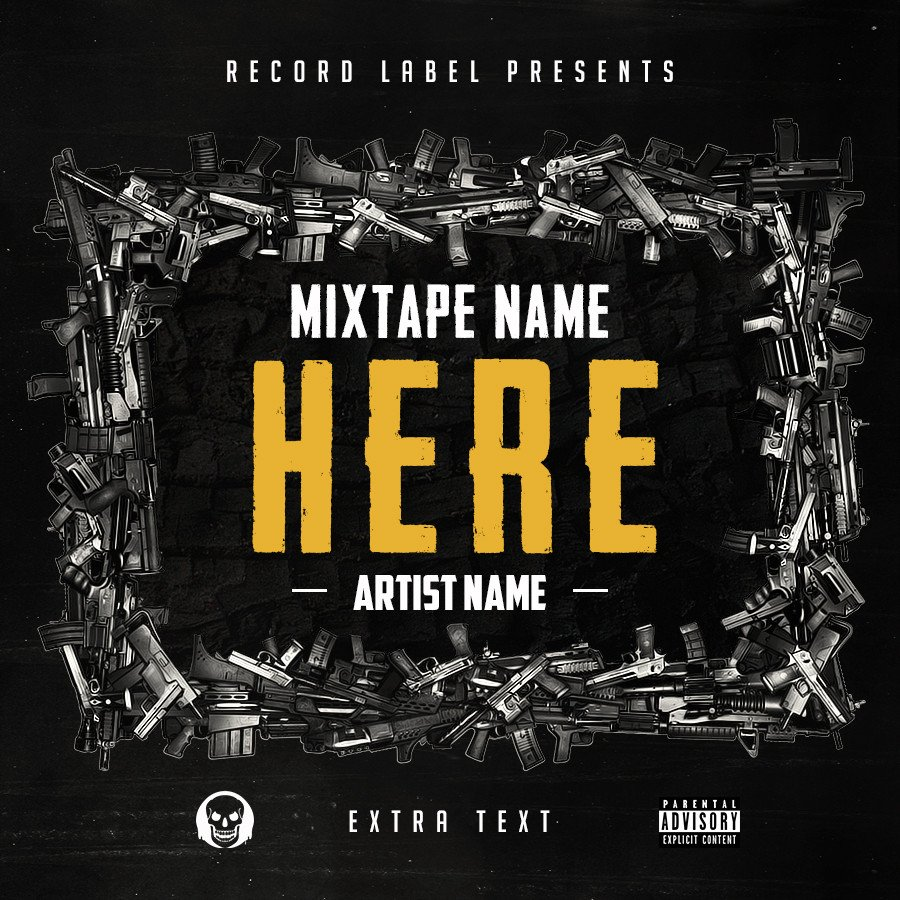 Free Mixtape Cover Templates Free Hip Hop Mixtape Cover V6 Psd by Shiftz On Deviantart