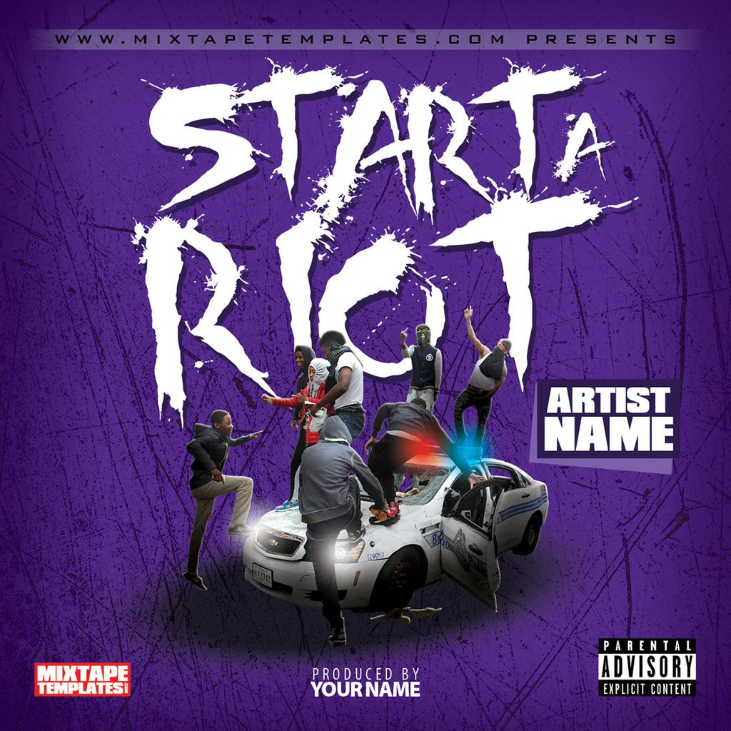 Free Mixtape Cover Templates Start A Riot Mixtape Cover Template by
