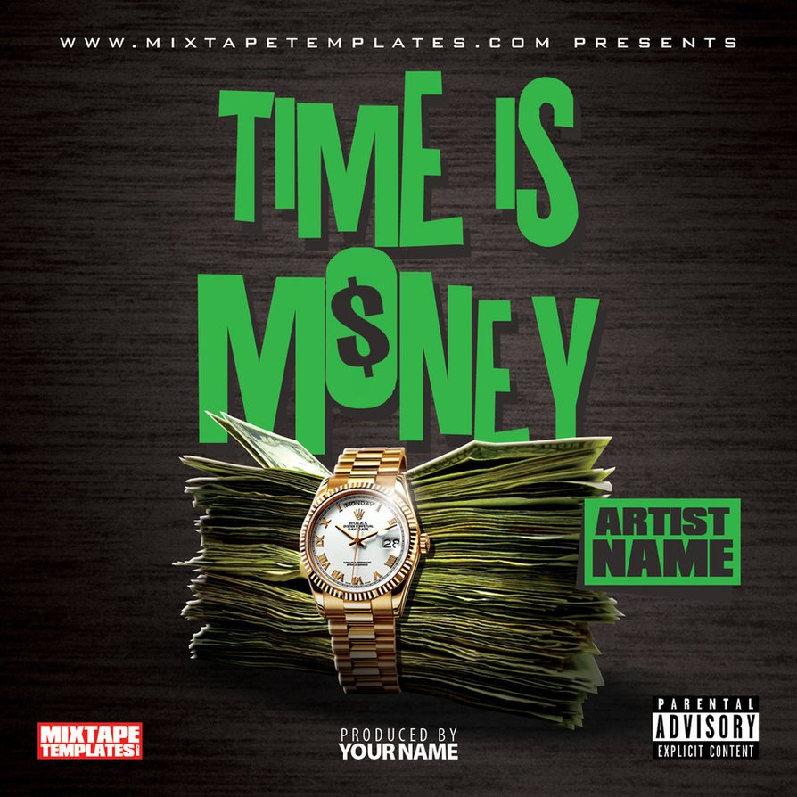 Free Mixtape Cover Templates Time is Money Mixtape Cover Template by