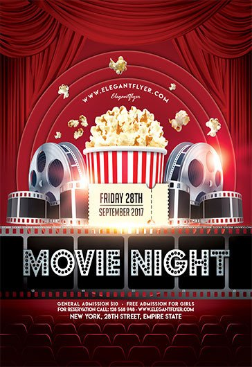 Free Movie Night Flyer Template Friday Night Light Movie Template – by Elegantflyer