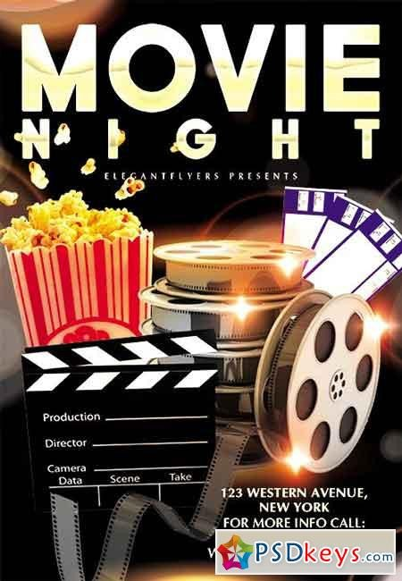Free Movie Night Flyer Template Movie Night Flyer Psd Template Cover 2 Free