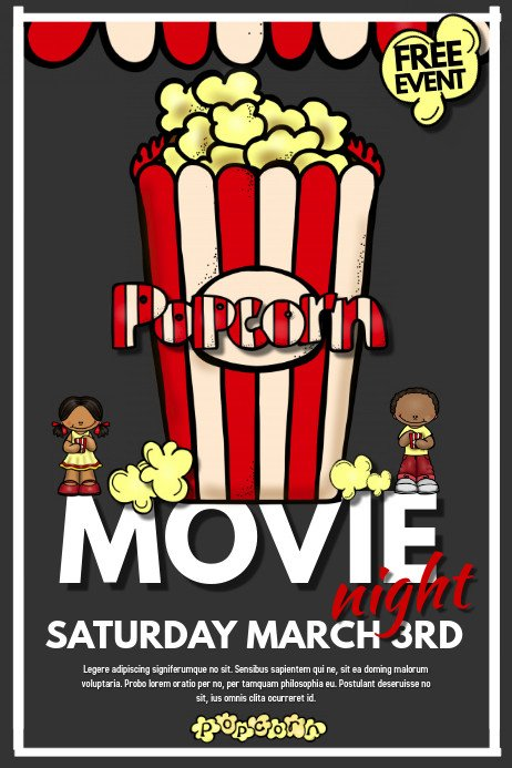 Free Movie Night Flyer Template Movie Night Template
