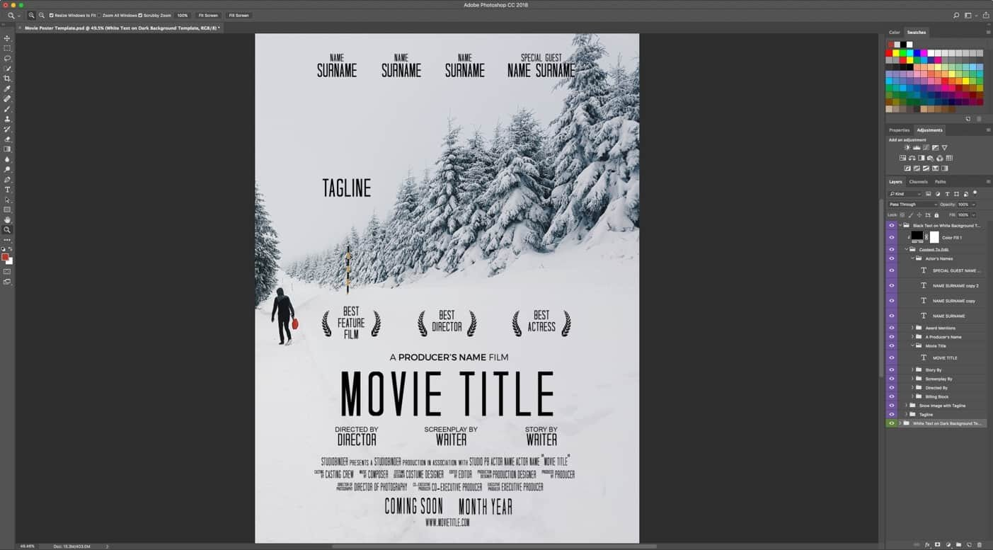 Free Movie Poster Template Download Your Free Movie Poster Template for Shop