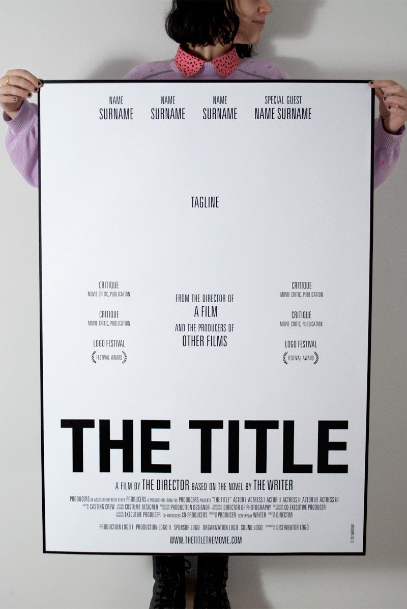 Free Movie Poster Template How to Make Movie Posters to Promote Your