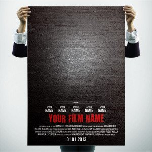Free Movie Poster Template Poster Templates