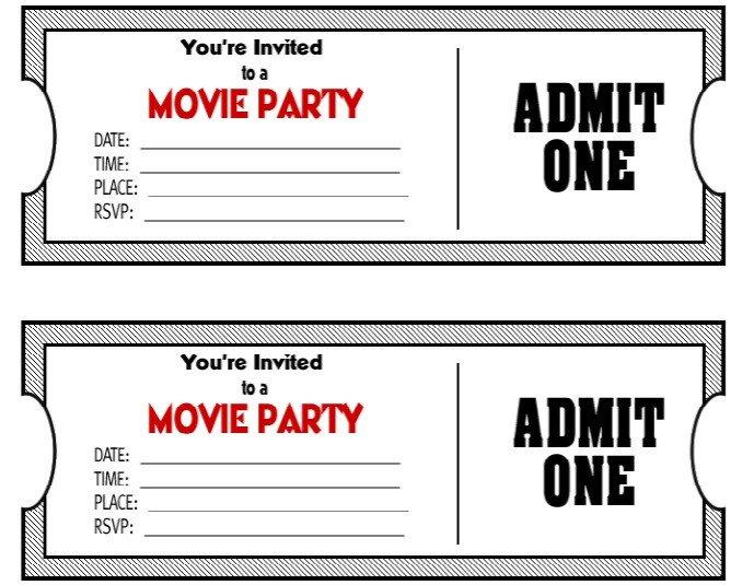 Free Movie Ticket Template 50 Free Raffle & Movie Ticket Templates Templatehub