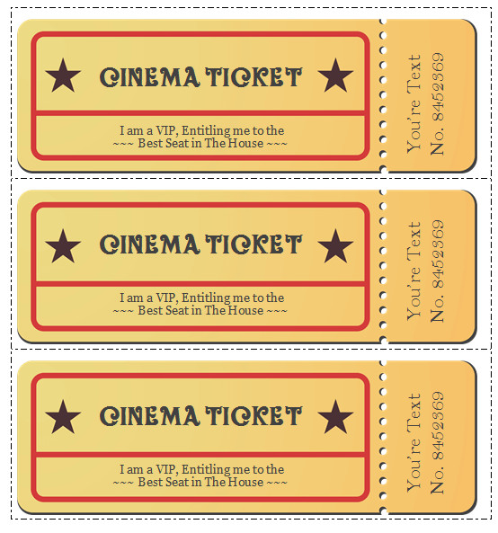 Free Movie Ticket Template 6 Movie Ticket Templates to Design Customized Tickets