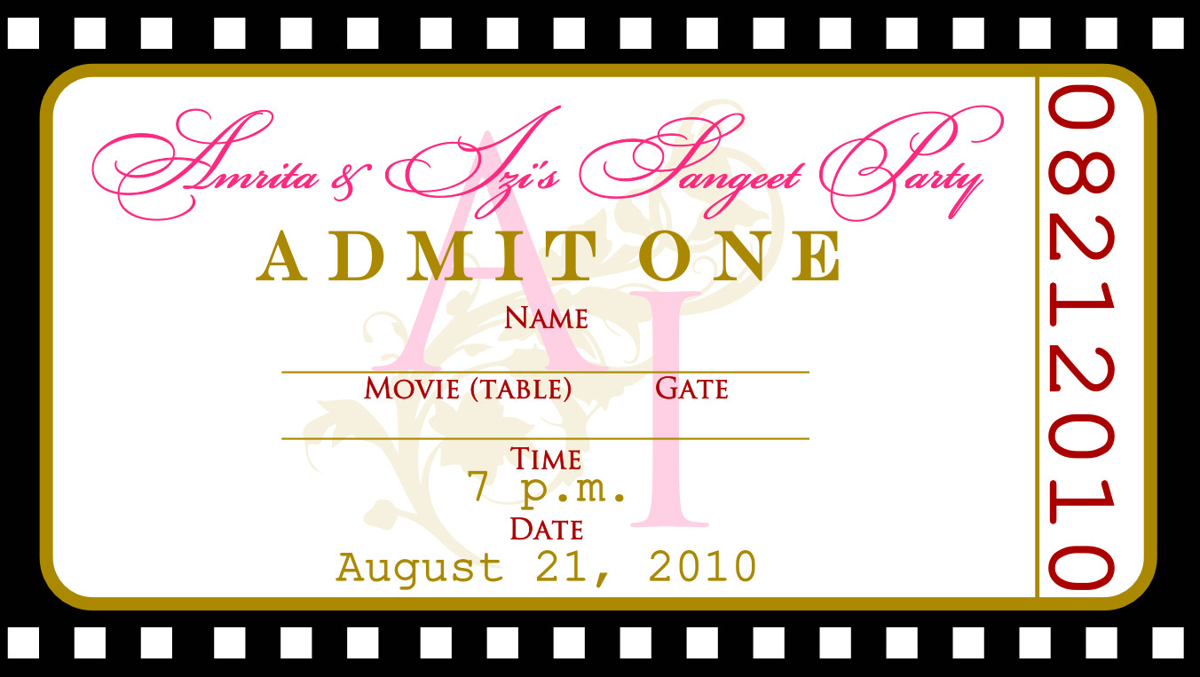 Free Movie Ticket Template Free Templates for Birthday Invitations