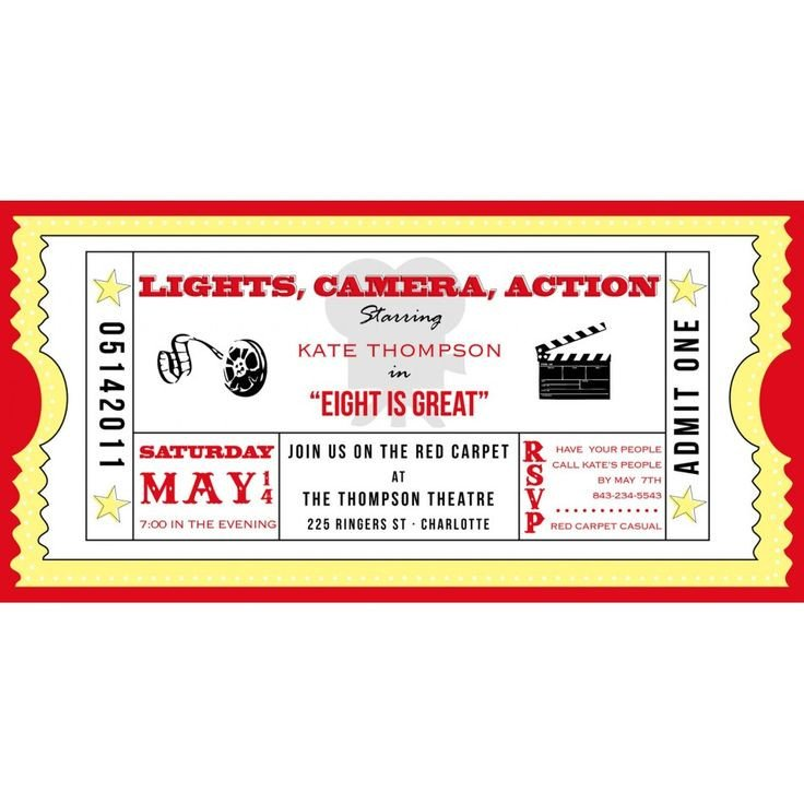 Free Movie Ticket Template Movie Ticket Cinema Drive In Birthday Party Printable