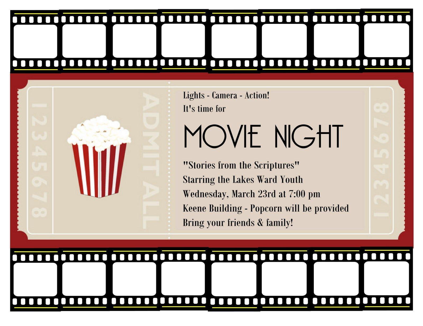 Free Movie Ticket Template Movie Ticket Template