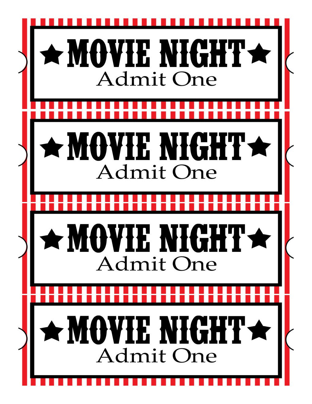 Free Movie Ticket Template Sweet Daisy Designs Free Printables Home Movie theatre Night