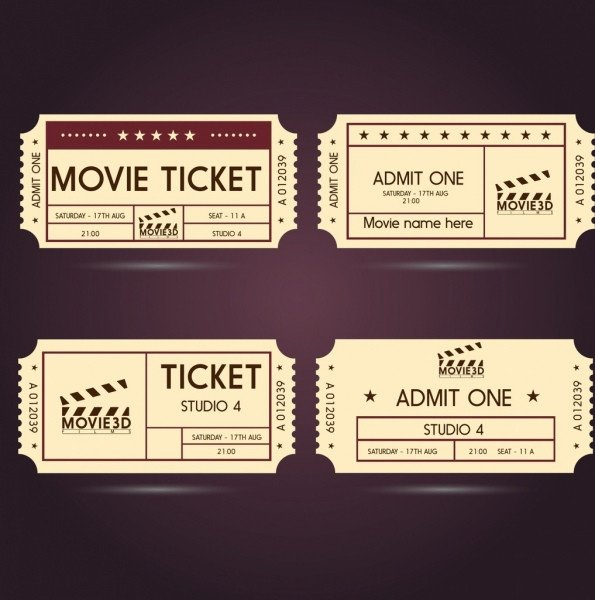 Free Movie Ticket Template Ticket Free Vector 170 Free Vector for