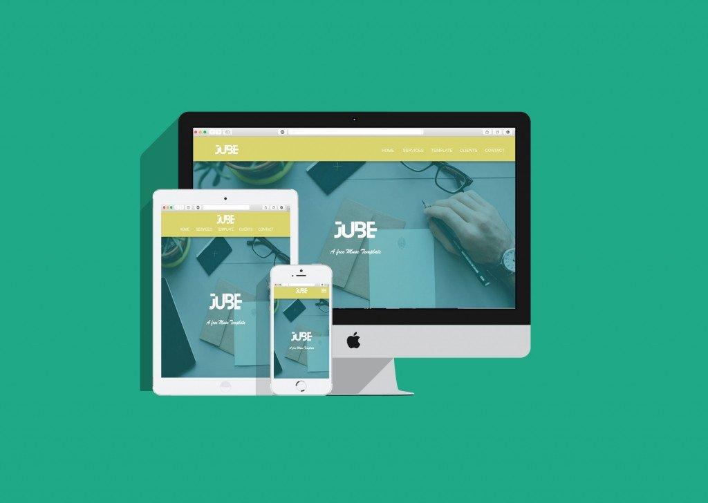 Free Muse Templates Responsive Jube Adobe Muse Responsive Free Template Responsive