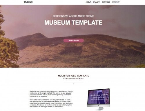 Free Muse Templates Responsive Simple Portfolio Free Responsive Muse Templates & Wid S