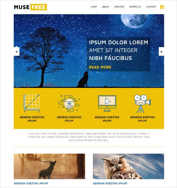 Free Muse Website Templates 21 Free Muse themes & Templates
