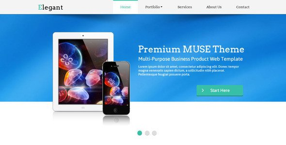 Free Muse Website Templates 23 Beautiful Free & Premium Adobe Muse Templates – Design