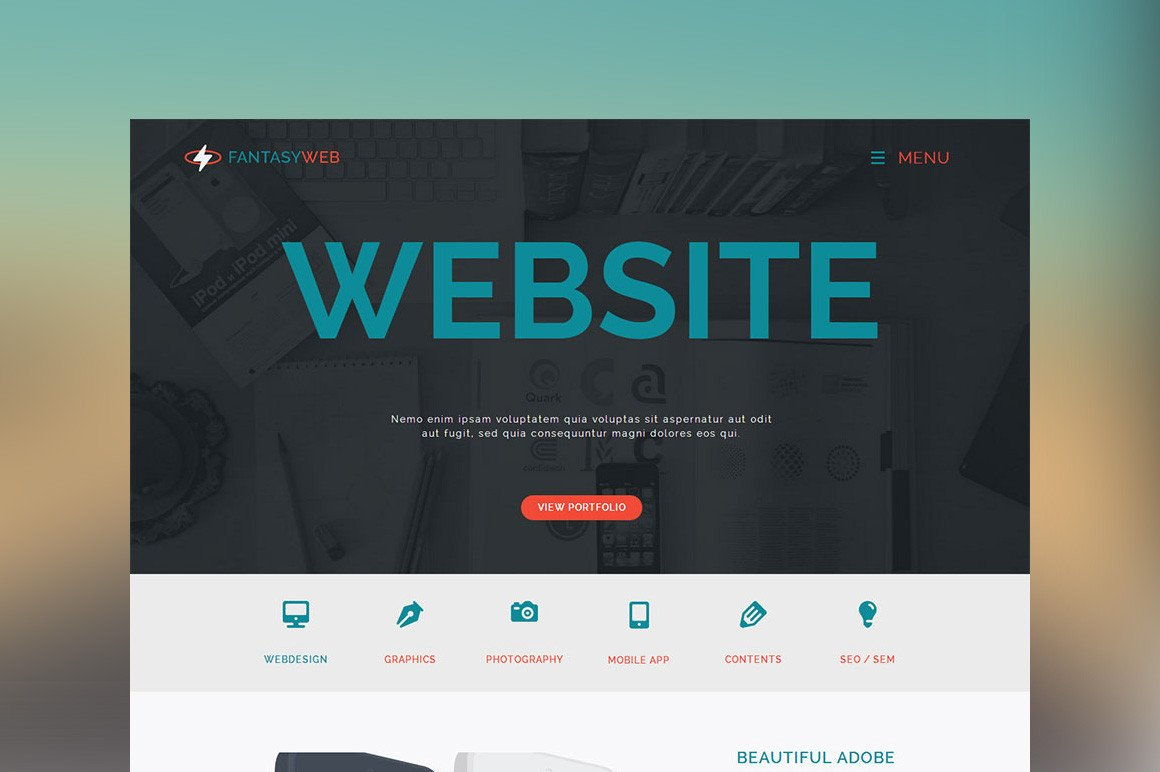 Free Muse Website Templates Fantasy Web E Page Muse Template Website Templates On