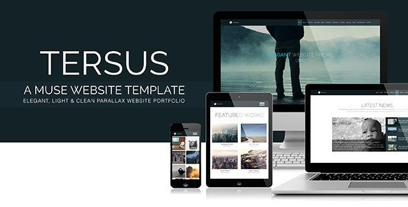 Free Muse Website Templates Tersus Business Portfolio Parallax Muse Template