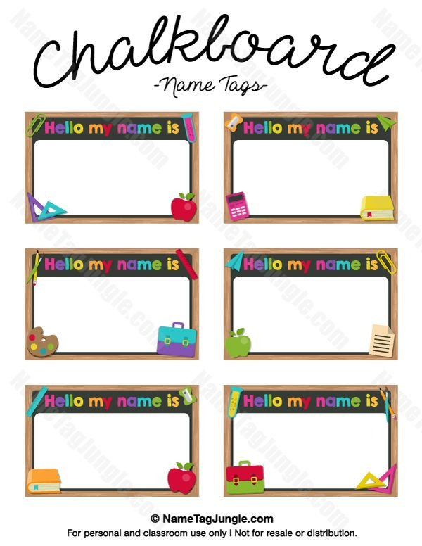 Free Name Tag Templates Free Printable Chalkboard Name Tags the Template Can Also