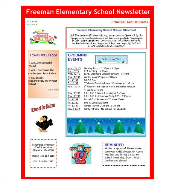 Free Newsletter Templates Download 10 Preschool Newsletter Templates – Free Sample Example