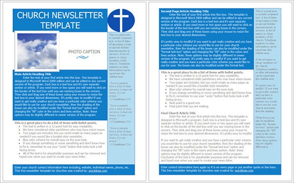 Free Newsletter Templates Download 4 Church Newsletter Templates