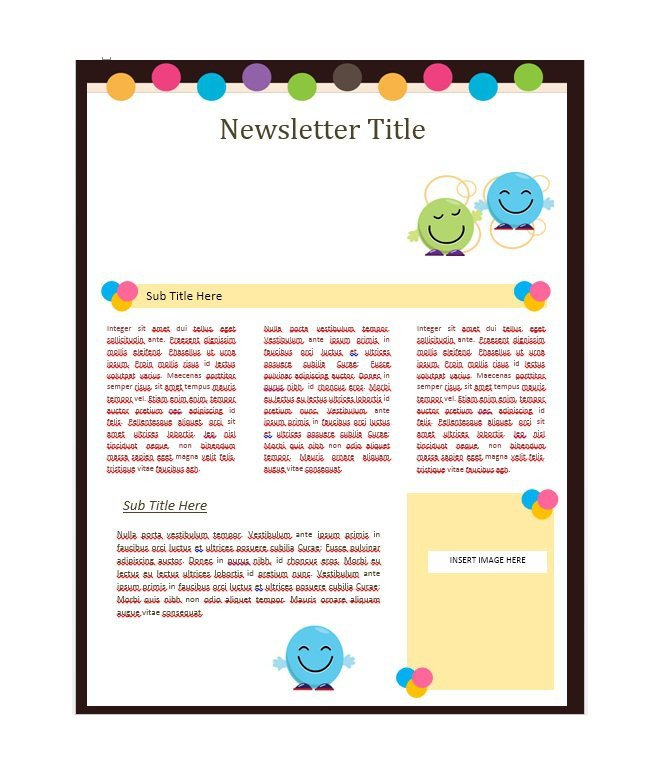 Free Newsletter Templates Download 50 Free Newsletter Templates for Work School and Classroom
