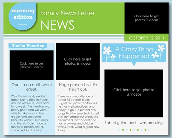 Free Newsletter Templates Download 7 Family Newsletter Templates – Free Word Documents