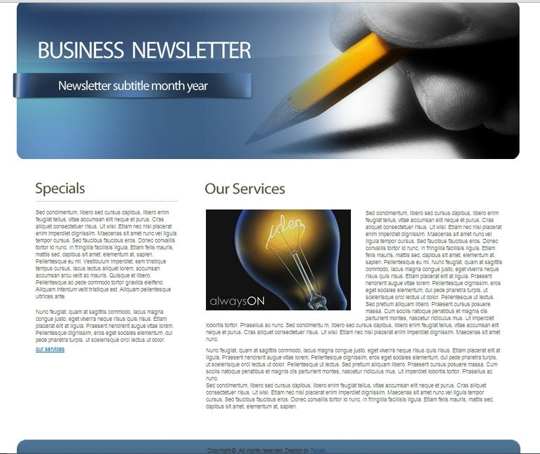 Free Newsletter Templates Download Download Free HTML Business Newsletter Template • 7boats