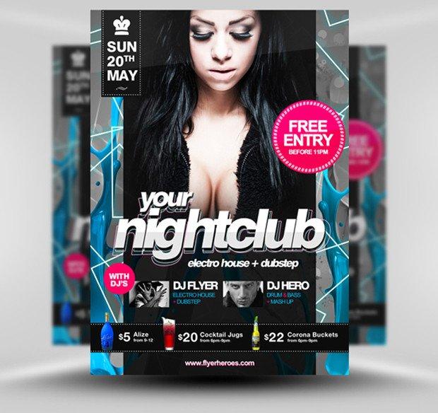 Free Nightclub Flyer Templates 30 Amazing Free Flyer Templates From Flyerheroes Extras