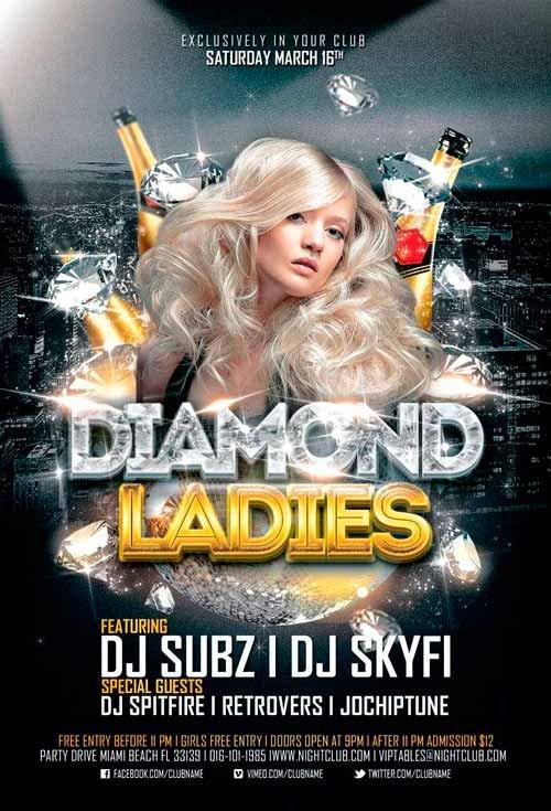 Free Nightclub Flyer Templates Diamond La S Club Flyer Template for Shop