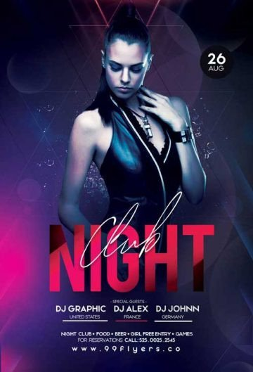 Free Nightclub Flyer Templates Download the Best Free Dj Flyer Psd Templates for Shop