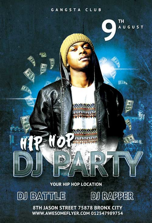 Free Nightclub Flyer Templates Download the Hip Hop Dj Party Flyer