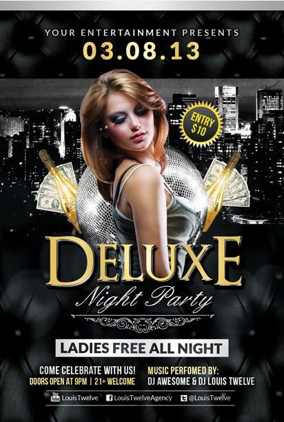 Free Nightclub Flyer Templates Free Deluxe Night Club Psd Flyer Template Download Free